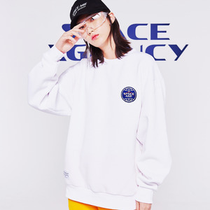 core logo sweatshirt white