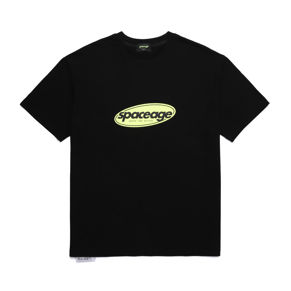 normal logo half tee (black)