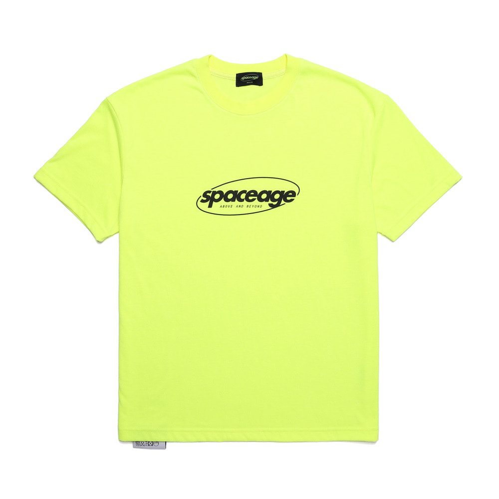 normal logo half tee (lime)
