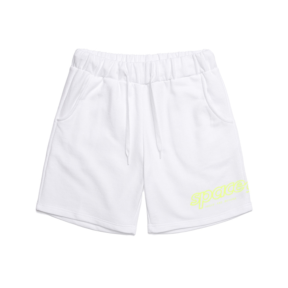 half tone short pants (white)