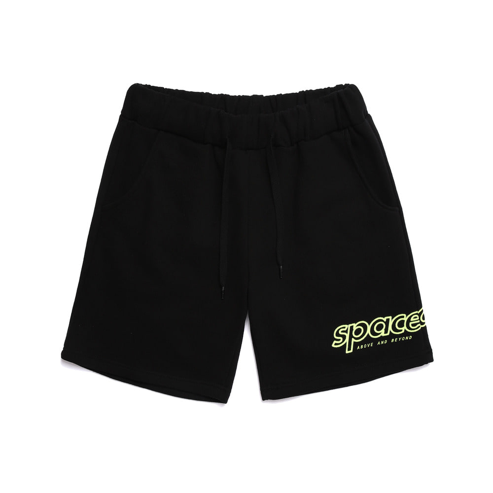 half tone short pants (black)
